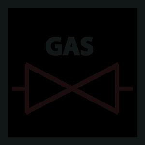 icon geschikt voor gas